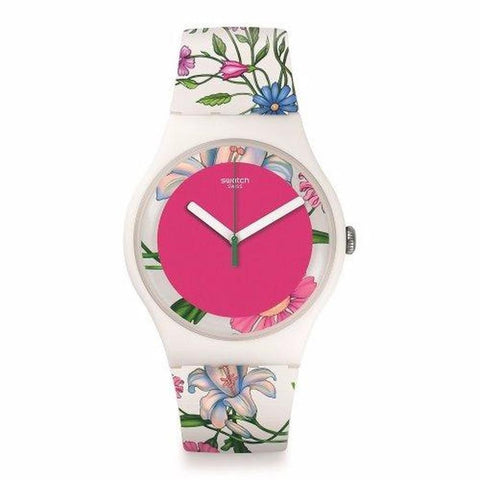 Swatch Women's Florinella Silicone Strap Watches SUOW127