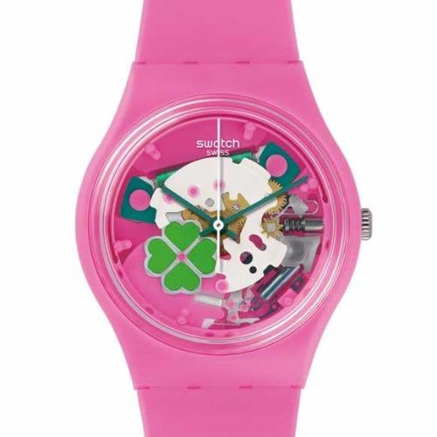 Swatch Women's Flowerfull Silicone Strap Watches GP147