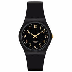 Swatch Women's Golden Tac Silicone Strap Watches GB274