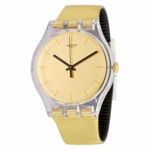 Swatch Women's Goldenall Plastic Strap Watches SUOK120