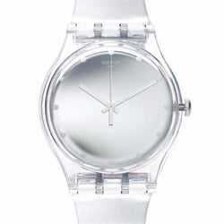 Swatch Women's Shiny Moon Plastic Strap Watches SUOK121