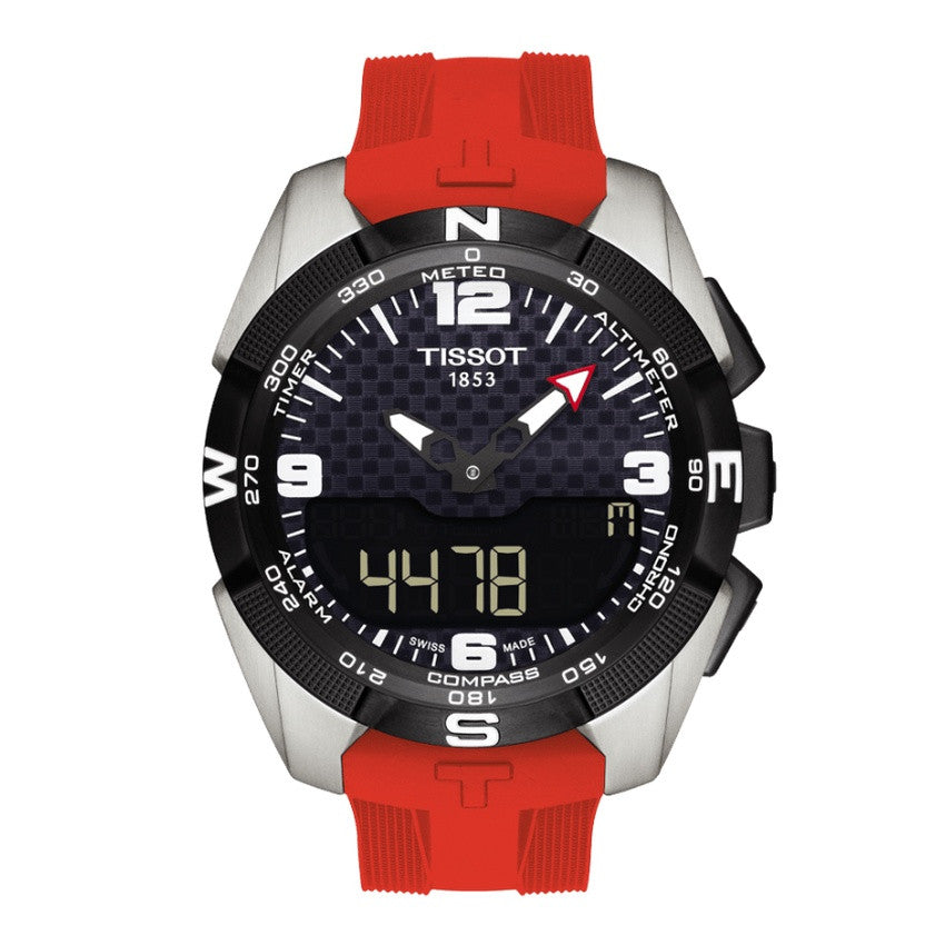 Tissot Men's T0914204705700 T-Touch Titanium Red Silicone Watch