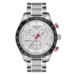 Tissot T100.417.11.031.00 PRS 516 Quartz Chronograph Tachymeter Men's Watch(Silver)