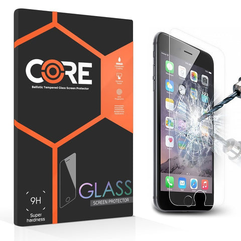Tempered Glass Screen Protector, Core Corp Protect Premium Samsung S6 & Apple iPhone 5, 5s, SE, 6, 6s PLUS, 7 and 7 PLUS 9H Hardness Super Thin 0.3mm Easy Bubble Free Application [Lifetime Warranty]
