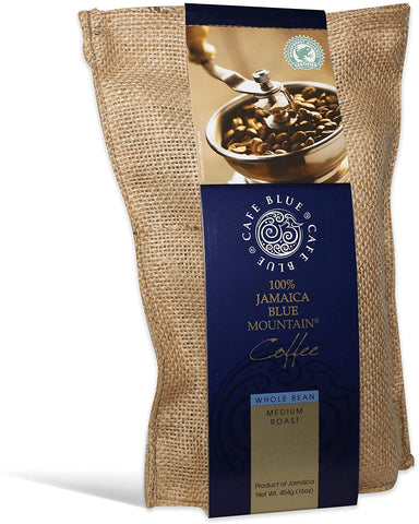 Cafe Blue Jamaica Blue Mountain Coffee Beans -  1 - 16 oz bag