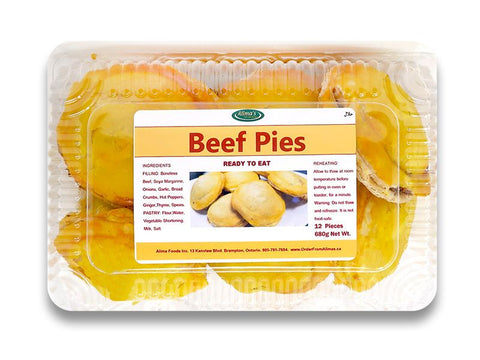 Beef Pies - Baked - 12 Pieces (frozen)