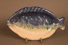 Fish Platter (blue,white) Medium