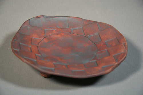 Candle Platter( Iron Oxide) Textured