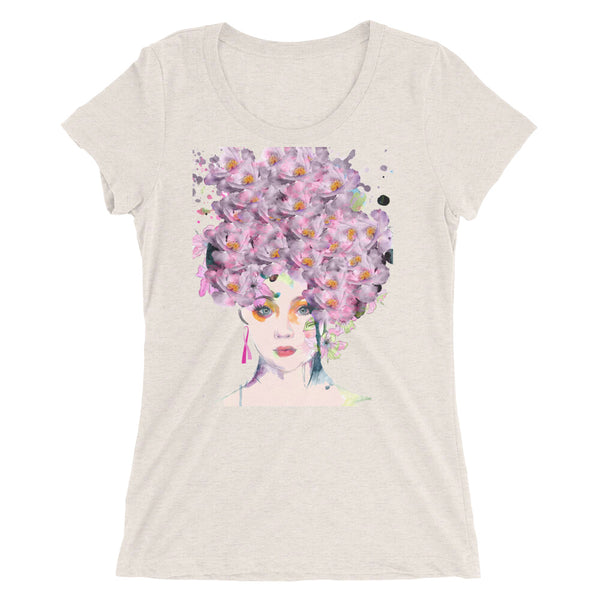 Ladies' short sleeve t-shirt featuring Rachel