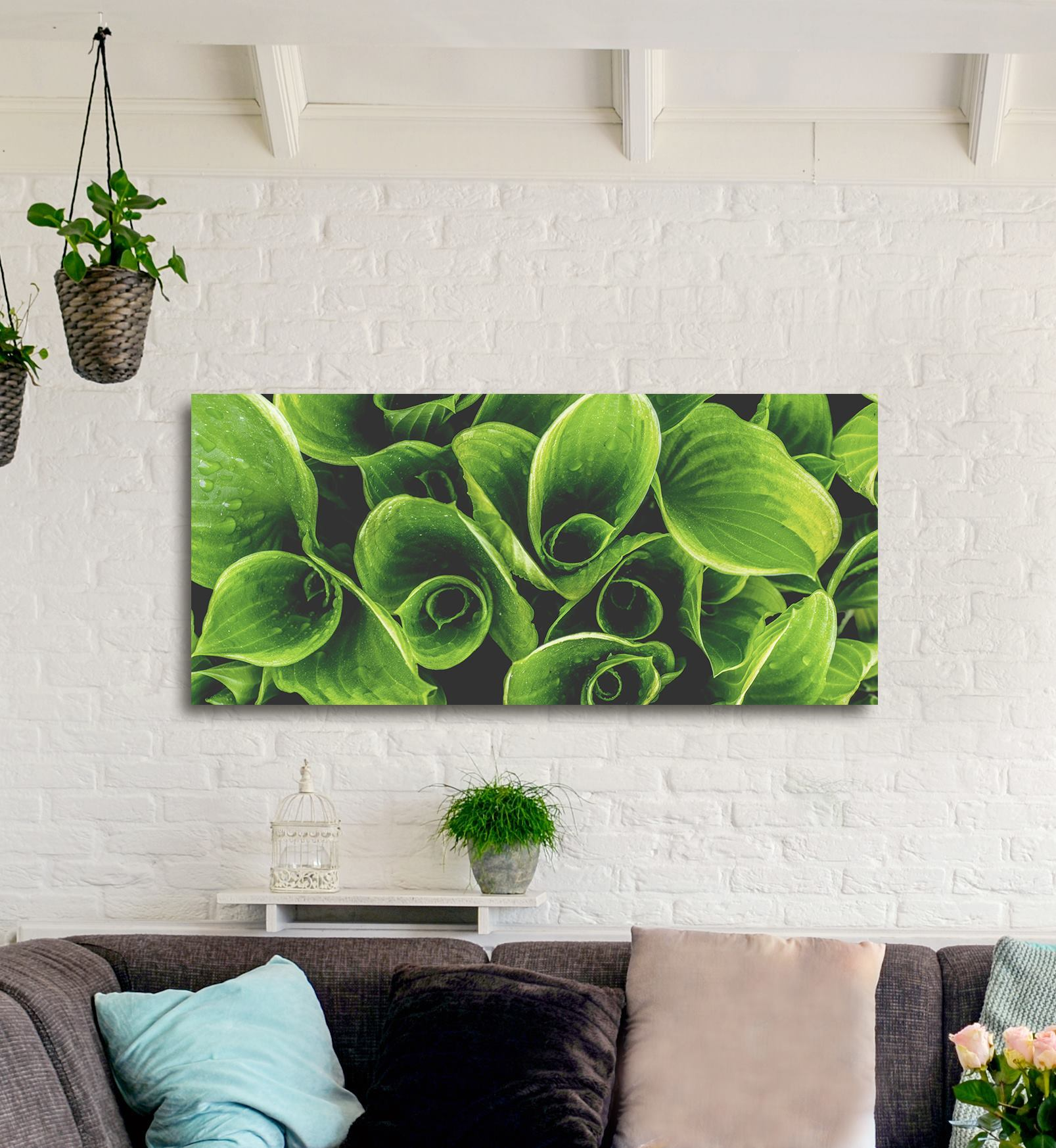 Nature Wall Art: Leaves Close Up (Wood Frame Ready To Hang)