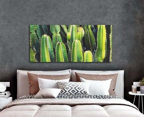 Plant Wall Art: Multiple Cactus (Wood Frame Ready To Hang)