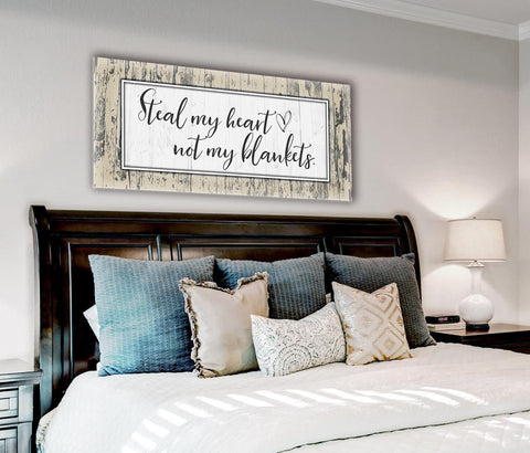 Bedroom Decor Wall Art: Steal Blanket 2 Sizes Available  (Wood Frame Ready To Hang)