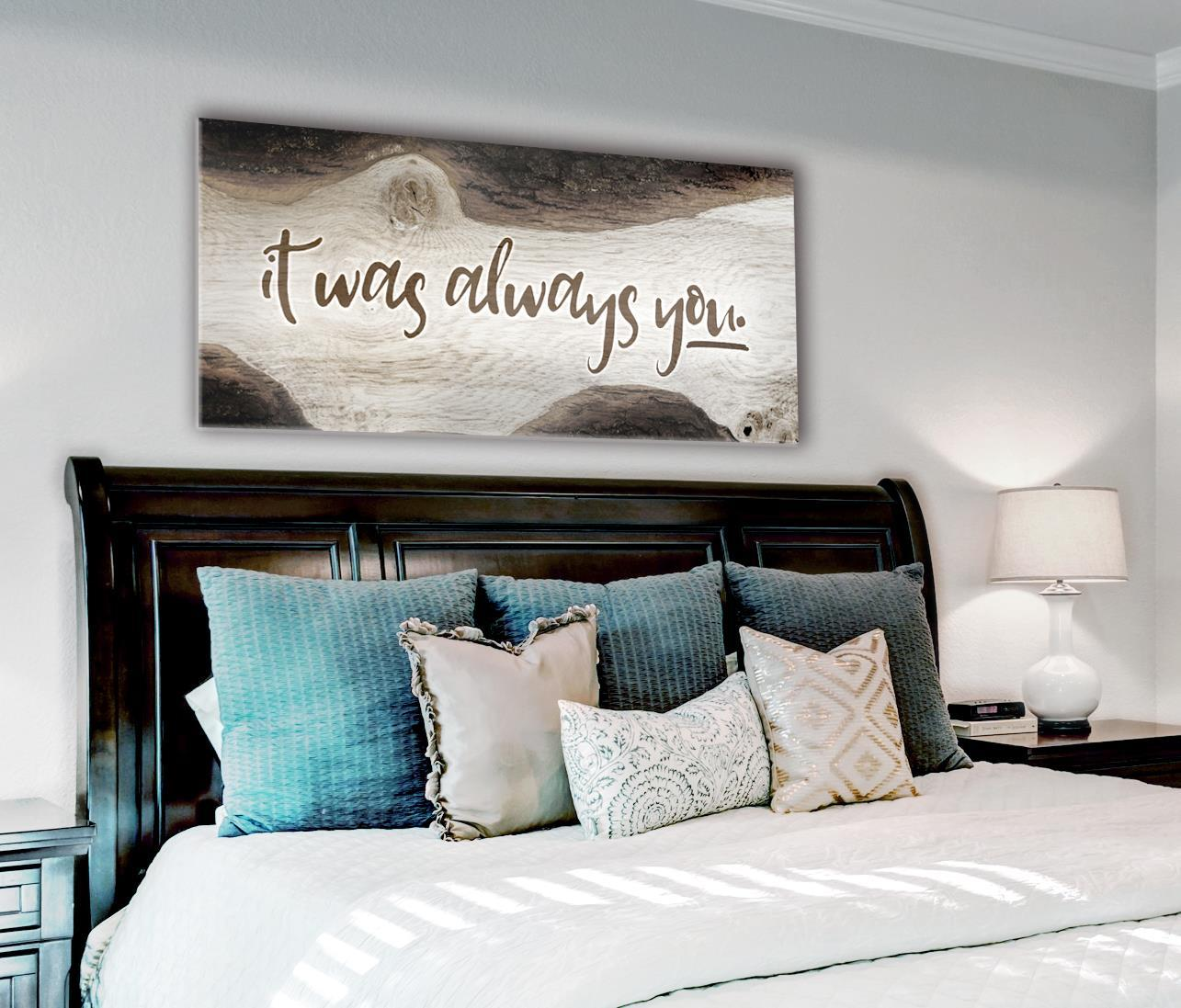 Bedroom Wall Art How Sweet It Is To Be Loved By You V3 Wood Frame Re Sense Of Art