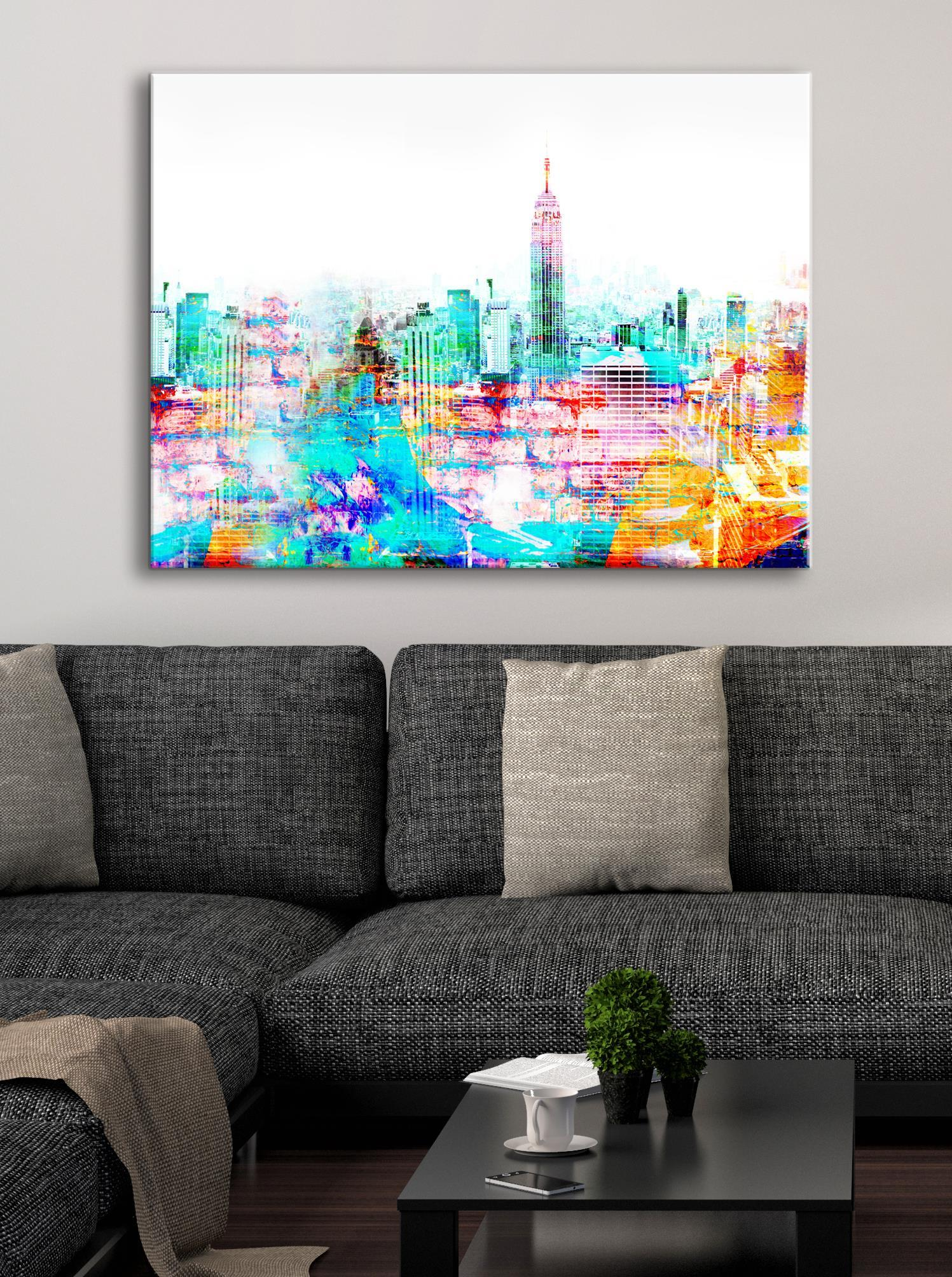 Abstract Wall Art: Downtown Art (Wood Frame Ready To Hang)