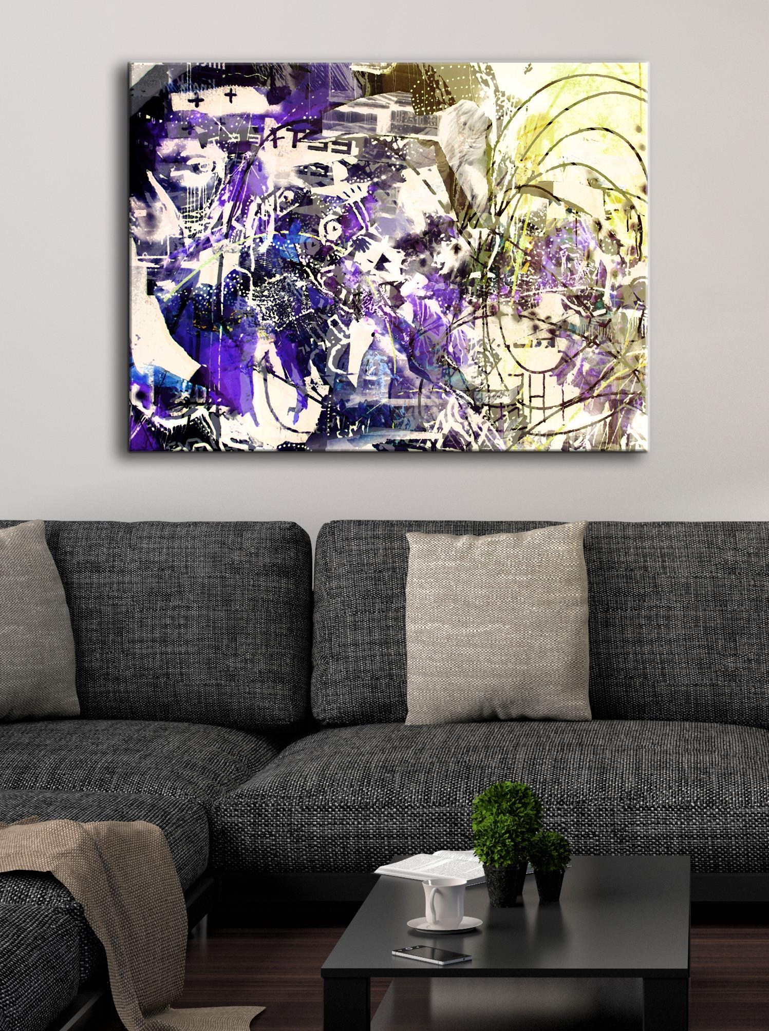 Abstract Wall Art: Purple Haze (Wood Frame Ready To Hang)