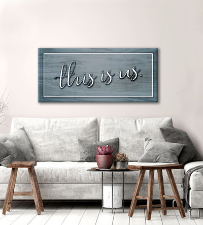 Living Room Home Decor Wall Art: This Is Us V2 (Wood Frame Ready To Hang)