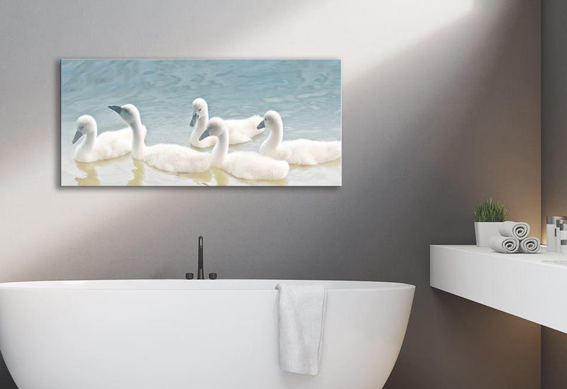 Bird Wall Art: Swans (Wood Frame Ready To Hang)