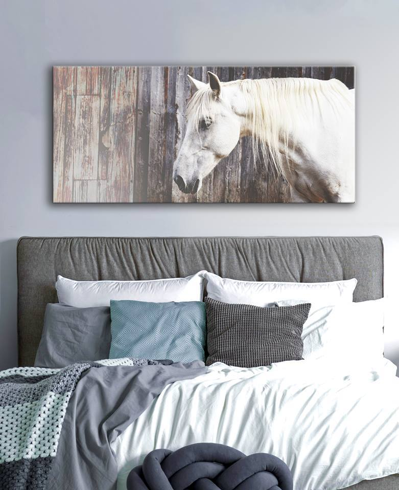 Farm Wall Art: Horse (Wood Frame Ready To Hang)