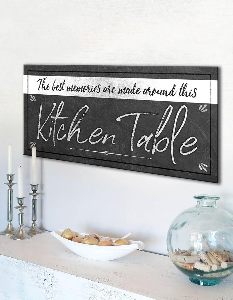 Kitchen Wall Art: Kitchen Table (Wood Frame Ready To Hang)