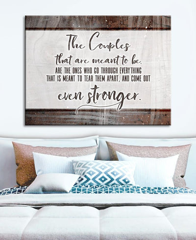 Bedroom Wall Art: Strong Couples (Wood Frame Ready To Hang)