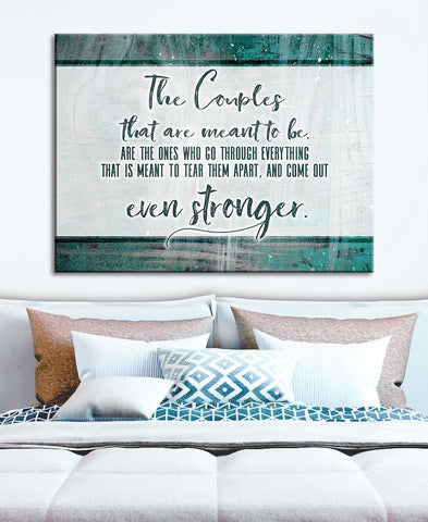 Bedroom Decor Wall Art:  Strong Couples (Wood Frame Ready To Hang)