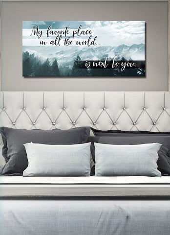 Bedroom Decor Wall Art: Next To You Wall Art (Wood Frame Ready To Hang)