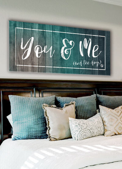 Pet Wall Art: You Me & The Dogs (Wood Frame Ready To Hang)