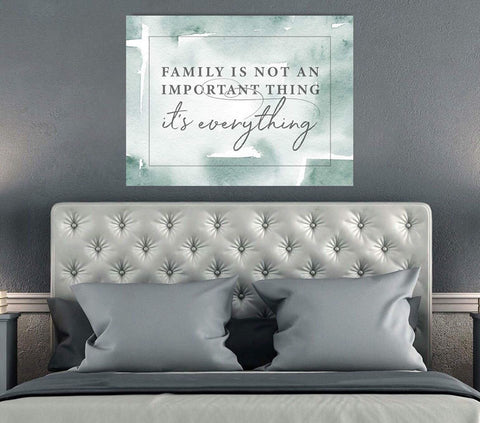 Home Decor Wall Art: Family Is Everything V2 (Wood Frame Ready To Hang)