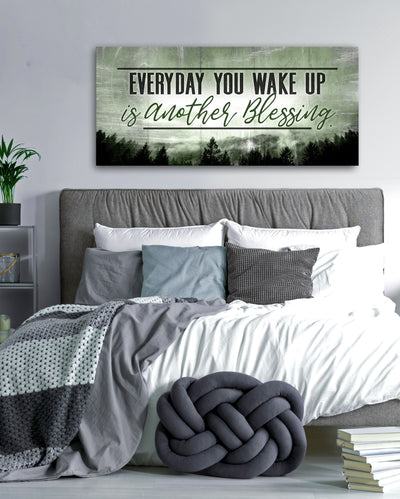 Bedroom Decor Wall Art: Everyday You Wake Up Is Another Blessing V2 (Wood Frame Ready To Hang)
