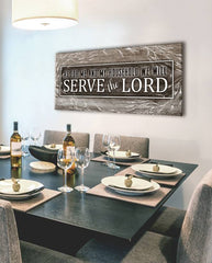 Christian Wall Art: Serve The Lord (Wood Frame Ready To Hang)