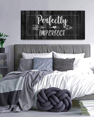 Couples Wall Art: Perfectly Imperfect (Wood Frame Ready To Hang)