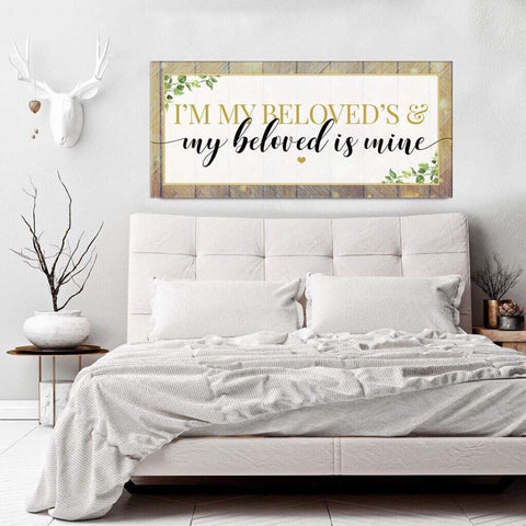 Couples Wall Art: I'm My Beloved's (Wood Frame Ready To Hang)