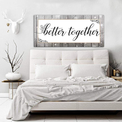 Couples Wall Art: Better Together (Wood Frame Ready To Hang)