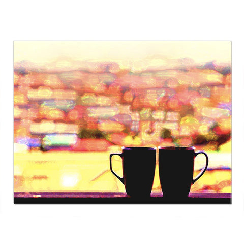 Home Decor Wall Art: Coffee Lovers Canvas (Wood Frame Ready To Hang)