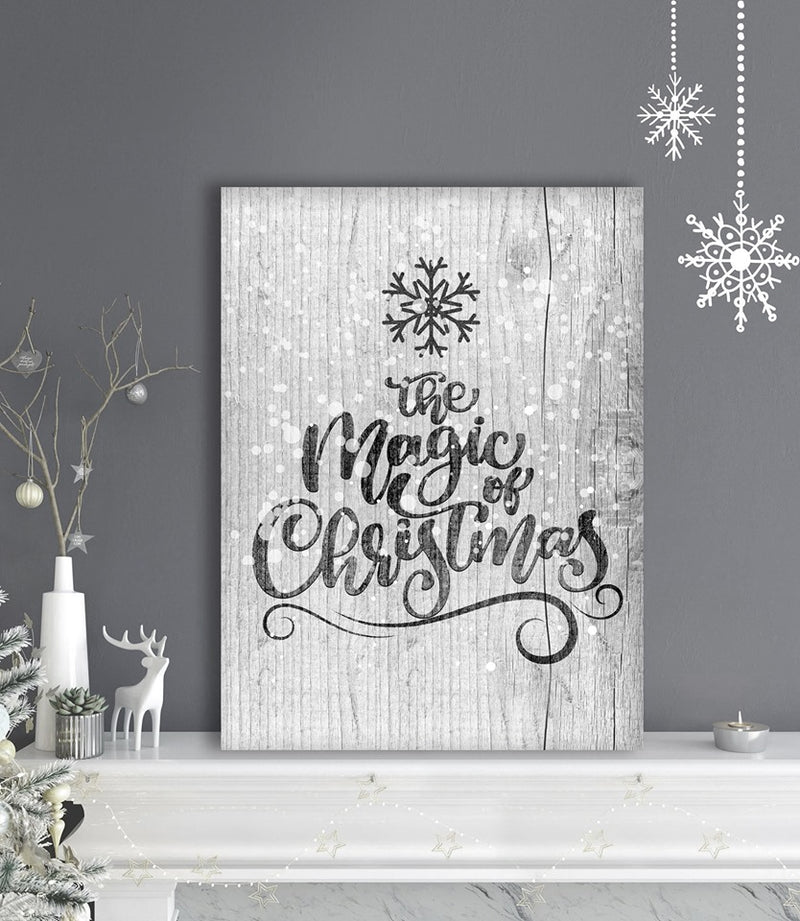 Holiday Decor Wall Art: The Magic Of Christmas (Wood Frame Ready To Hang)