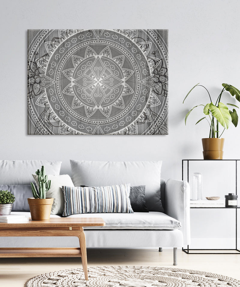 Home Wall Art: Boho Mandala Sunrise(Wood Frame Ready To Hang)
