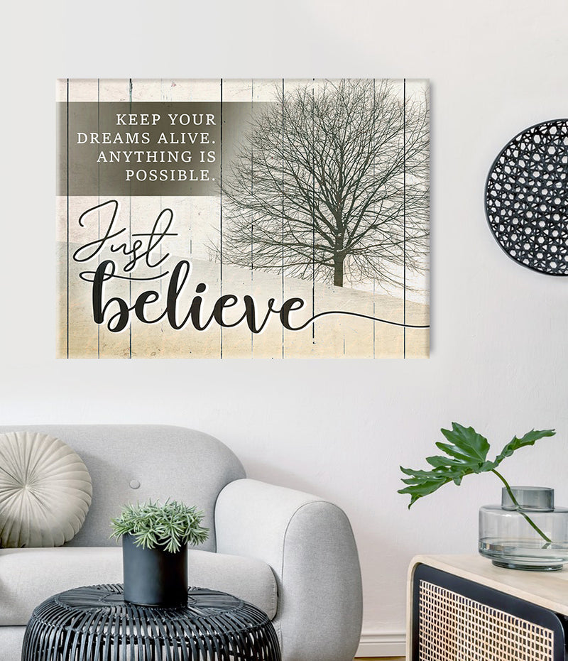 Inspire Wall Art:  Keep Your Dreams Alive V2 (Wood Frame Ready To Hang)