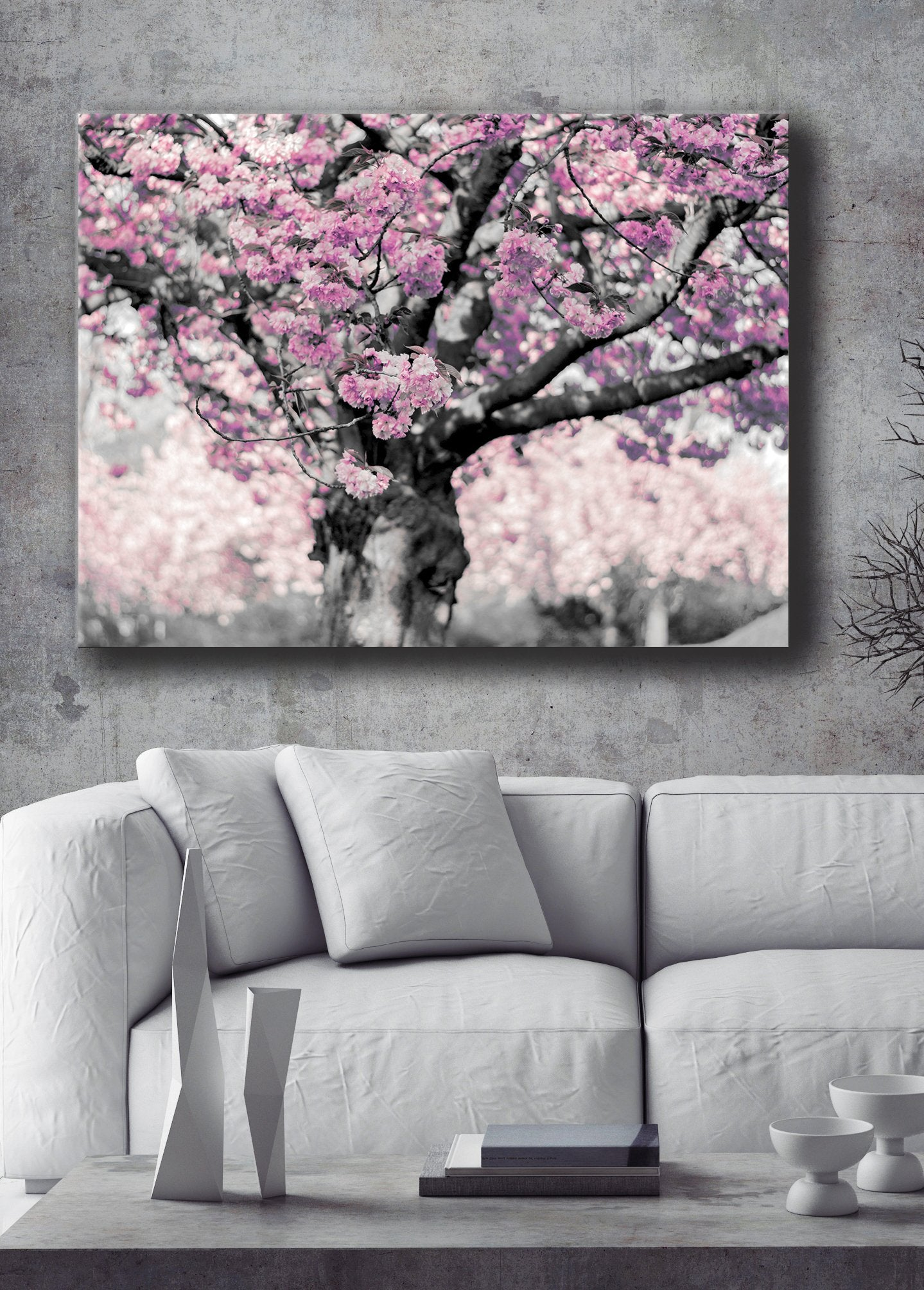 Nature Wall Art: Blossom Tree Pink (Wood Frame Ready To Hang)
