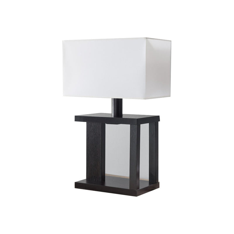 Lamps:  Table Lamp With Rectangular Shade