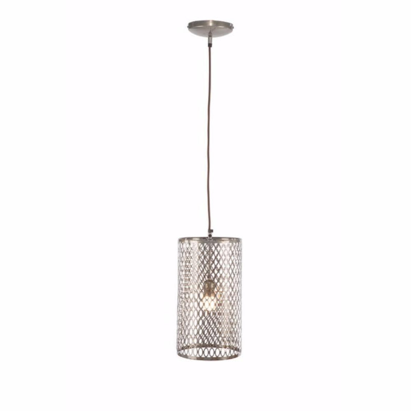 Lamps: Round Metal Cutout Hanging Lamp