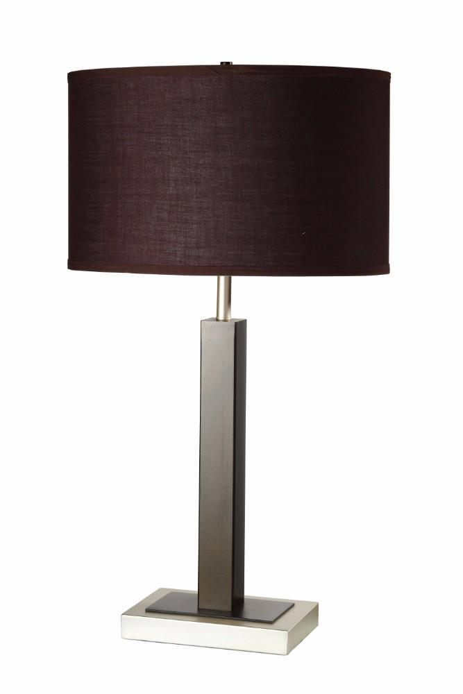 Lamps: Contemporary Metal Table Lamp Set Of 2