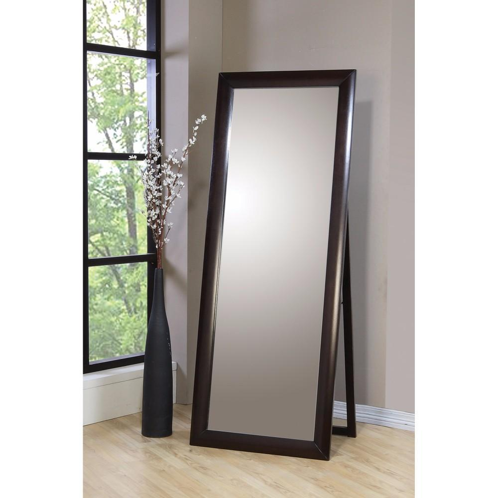 Mirror: Splendid Standing Floor Mirror With Wooden Frame