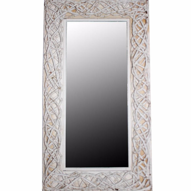Mirror: Mirror With Rattan Frame