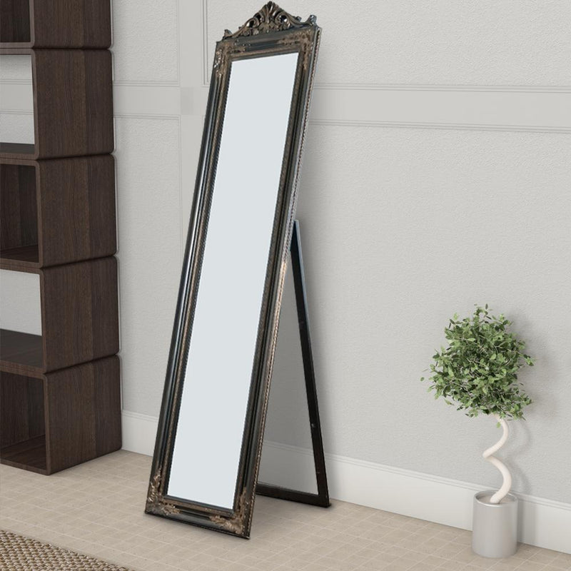 Mirror: Camilla Full Length Standing Mirror With Decorative Design