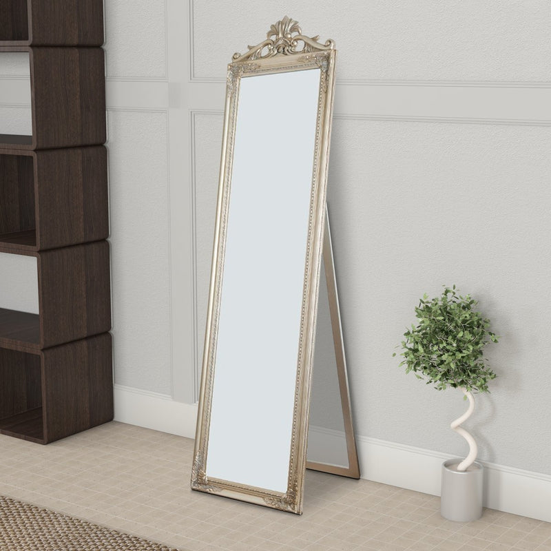 Mirror: Gisela Full Length Standing Mirror With Decorative Design