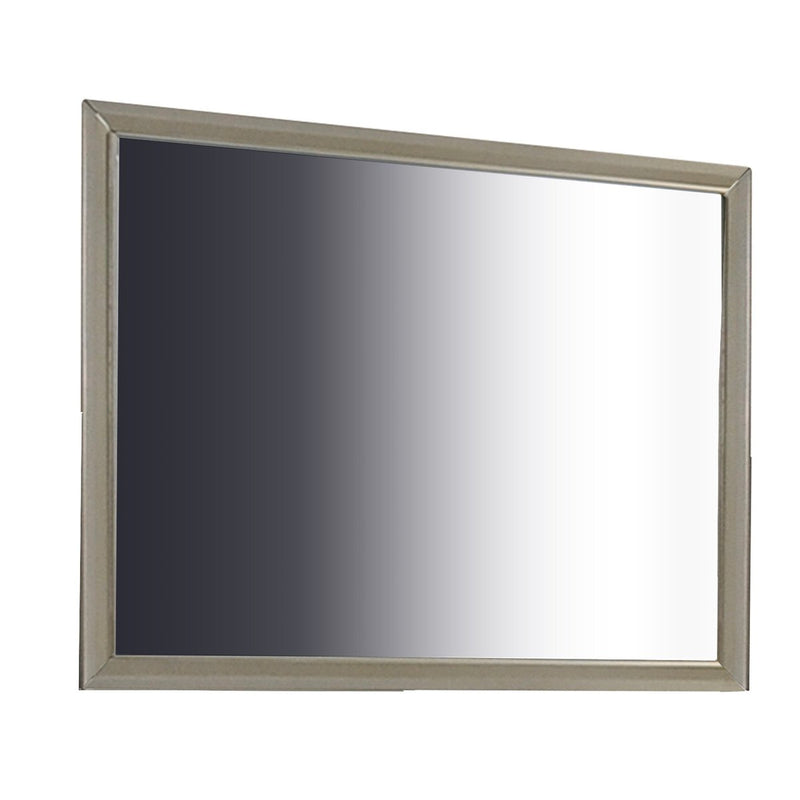 Mirror: Wooden Clean Lines Framed Mirror With Rectangular Shape