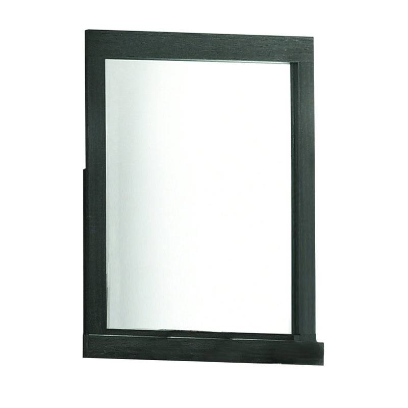 Mirror: Rectangular Wooden Framed Mirror With Beveled Edge