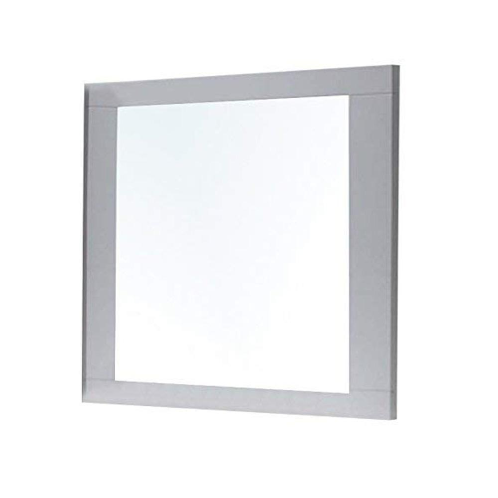 Mirror: Rectangular Wooden Frame Mirror With Beveled Edges