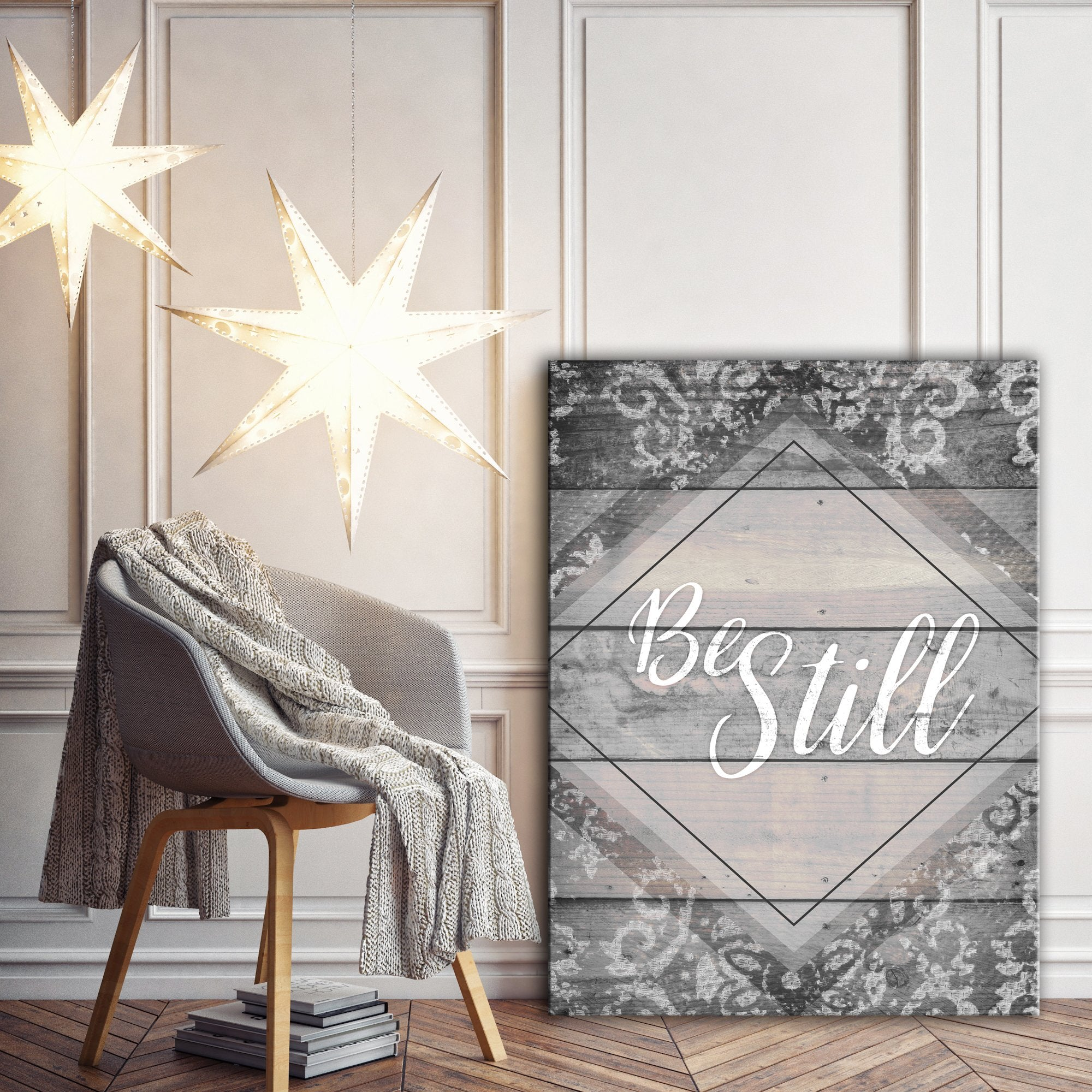 Home Wall Art: Be Still Wall Art (Wood Frame Ready To Hang)
