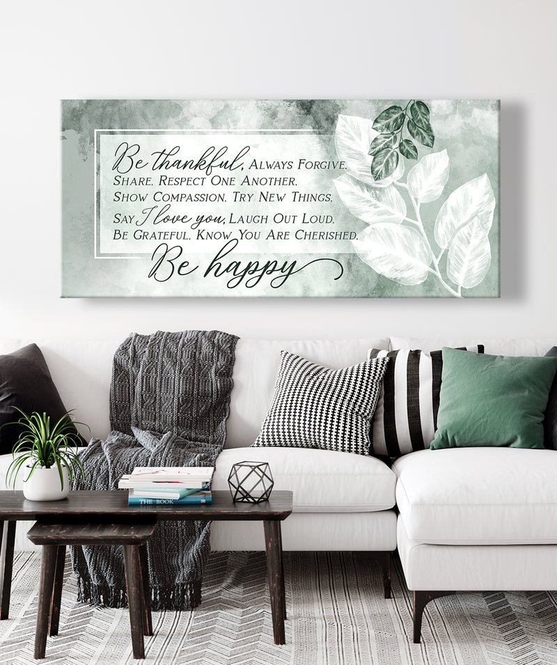 Christian Wall Art: Be Thankful Always Forgive (Wood Frame Ready To Hang)
